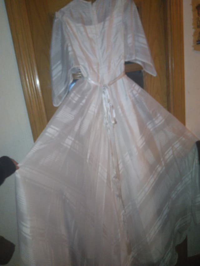 vestido de novia vintage con tul incluido