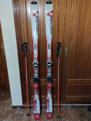 Esquís fischer 170 + botas esquí Nórdica 27