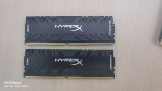 memoria ram Ddr4 Hyperx Predator 2x8 gb. 2666 mhz