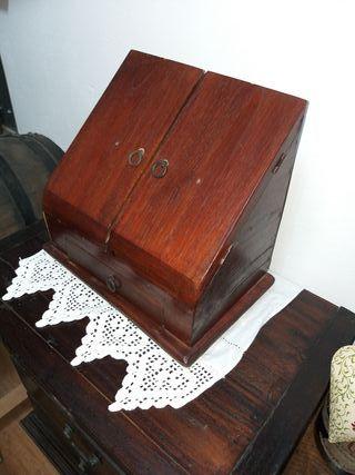 escribania madera retro vintage
