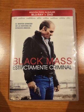 DVD BLACK MASS ESTRICTAMENTE CRIMINAL