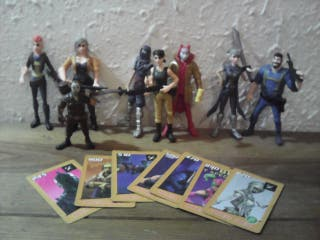 Fortnite lote figuras y cartas