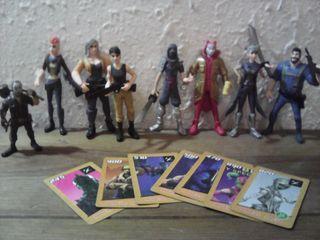 Fortnite lote figuras y cartas