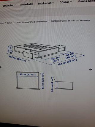 BASE PARA CAMA DE IKEA MODELO NORDLI