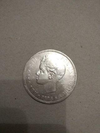 Moneda de 5 pesetas de Alfonso XIII 1898