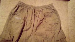 pantalon beige algodon