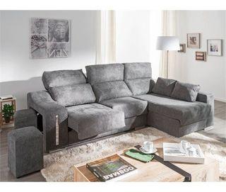 Sofá Chaise longue gris