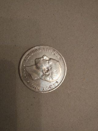 Moneda española de 5 pesetas de Alfonso XII 1882