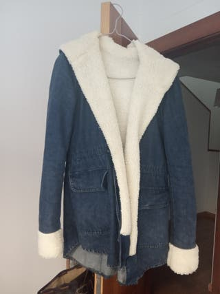 abrigo vaquero con interior de borreguito