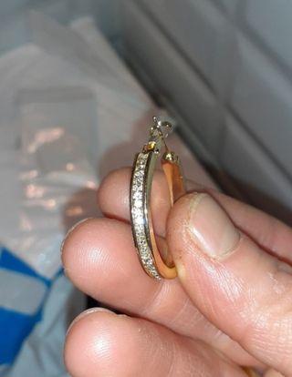 Boucles d'oreille faux diamants