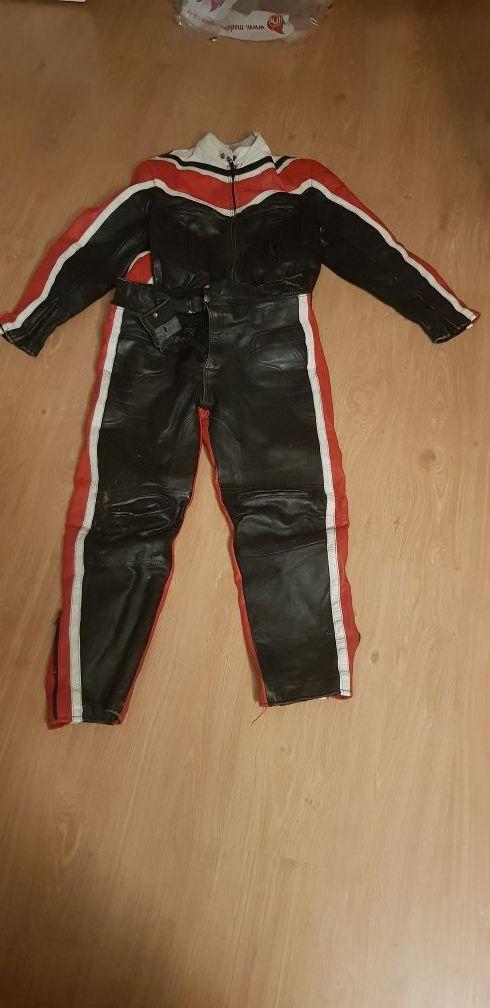 traje moto 2 piezas casco y botas