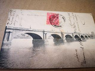 tarjeta postal Puente WATERLOO.Año 1908