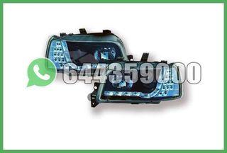 FAROS+INTERMITENTE LED NEGROS CLIO 90-96