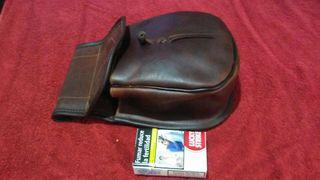 bolsa de cuero para cartuchos nueva sin usar