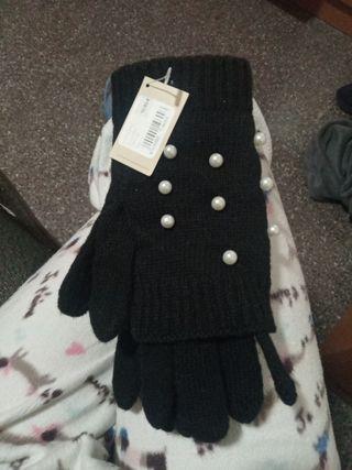 preciosos guantes perlas