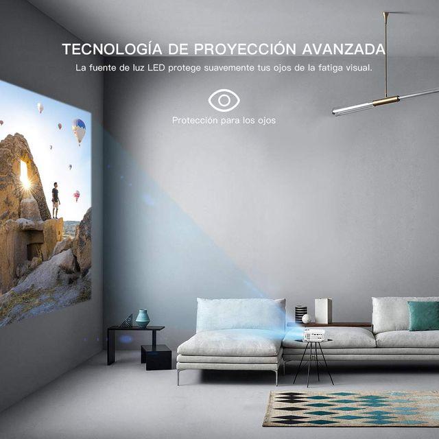 Proyector APEMAN Mini Portátil Proyector de Cine