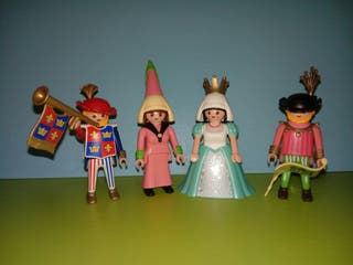 playmobil lote personajes corté medieval