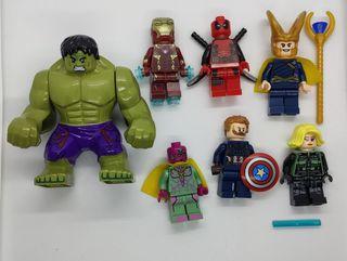 Figuras tipo lego Avengers Superheroes