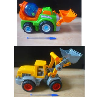 Grúas de juguete excavadora hormigonera CHOLLO