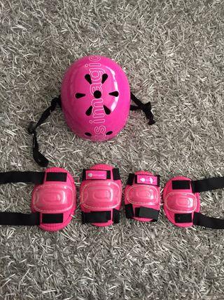 Protección deportiva niños: casco, rodilleras, cod