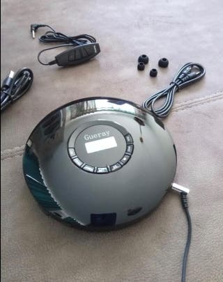 Discman reproductor CD portátil con BLUETOOH y bat
