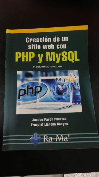 Libro programación PHP y MySQL creación WEB