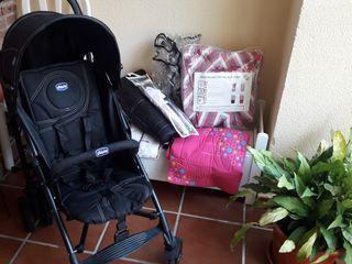 Conjunto silla paseo Chicco sombrilla fundas
