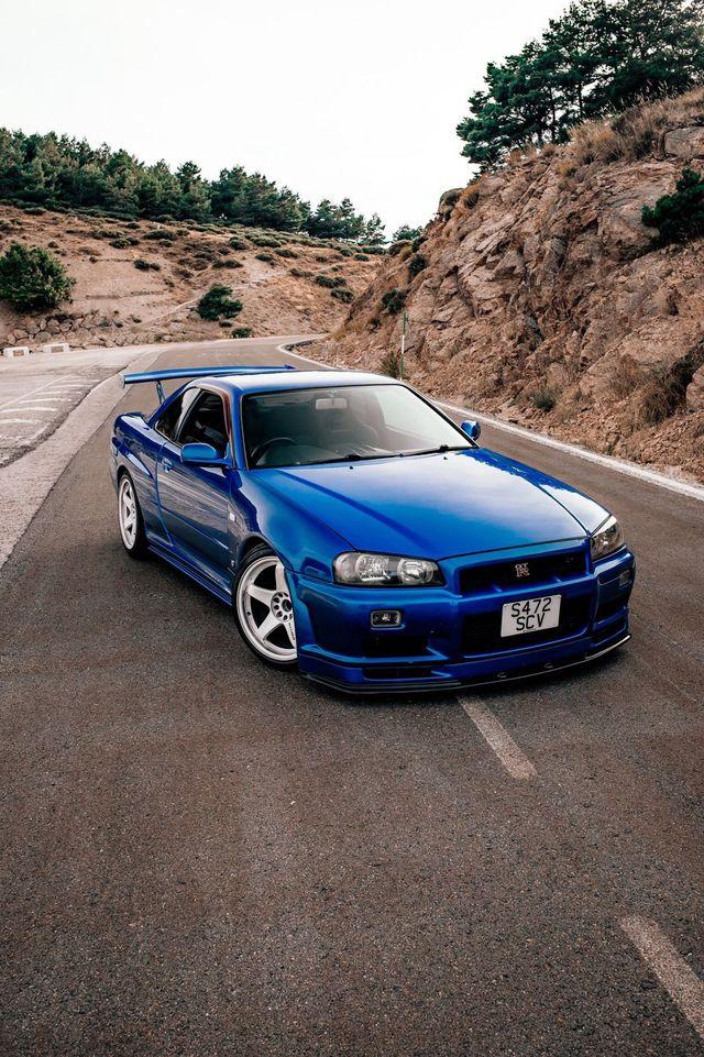Nissan Skyline r34 GT-R Azul 1998-2002 1//32 jada modelo coche con o sin indiv