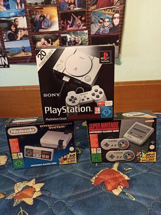 NES, SNES y PSX mini completas
