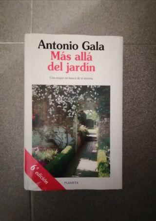 """LIBRO """"MÁS ALLÁ DEL JARDÍN"""" A. GALA. TAPA DURA."""
