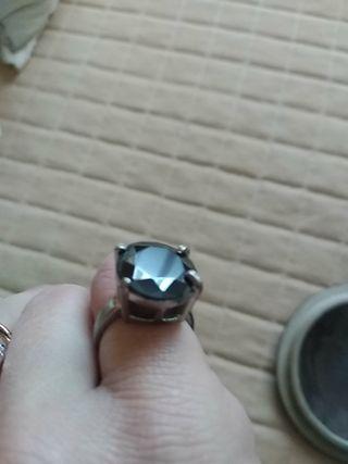 anillo chapado plata talla 15