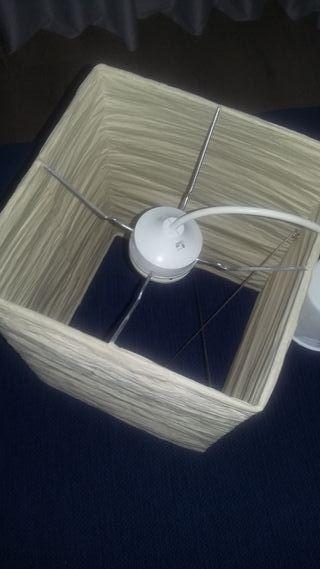lampara de techo de papel de ika