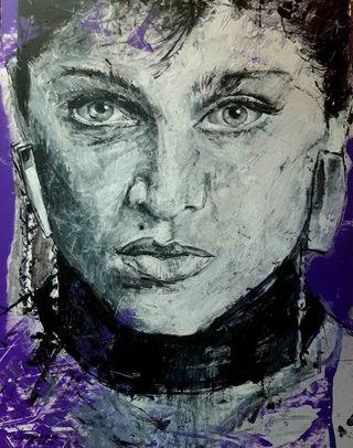 cuadro retrato de Madonna