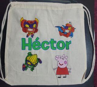 Bolsas o mochilas de tela personalizadas a mano