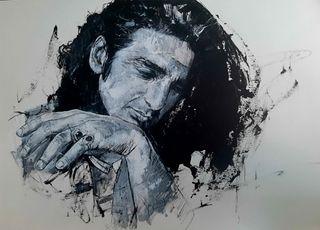 cuadro retrato de Antonio flores