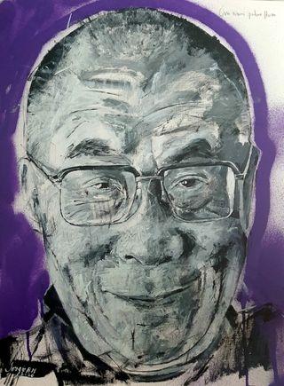 cuadro retrato del dalai lama