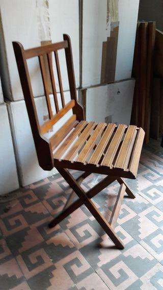 Silla y taburete vintage