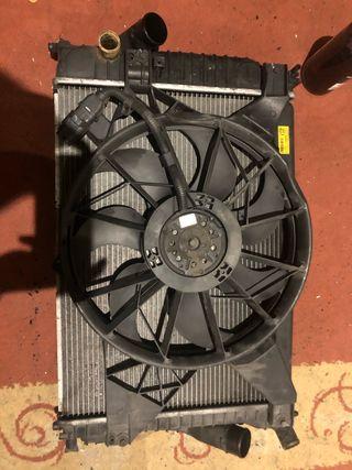 Radiador de agua intercooler ventilador chevrolet