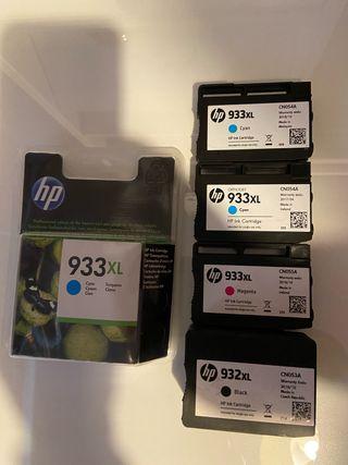 Cartuchos de tinta impresora HP