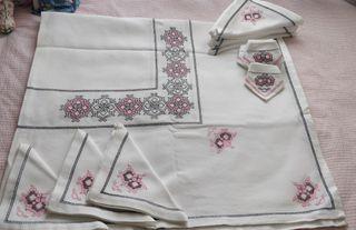 mantelería hecha a mano