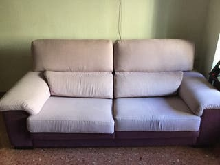 Sofa extensible de tres plazas