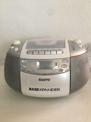 Radio CD con cassette Sanyo
