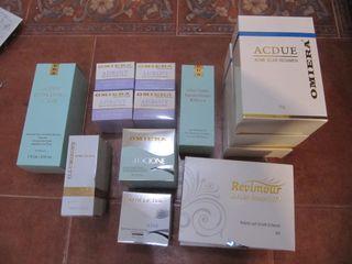 gran lote de productos para el cuidado de la piel