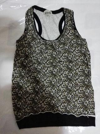 camiseta talla M leopardo mujer