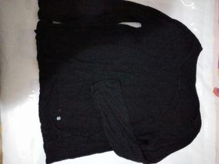 camiseta talla L Stradivarius negra mujer