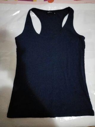camiseta talla XL azul tirantes mujer