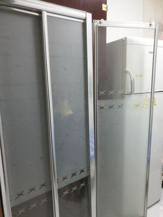 mampara ducha aluminio y cristal
