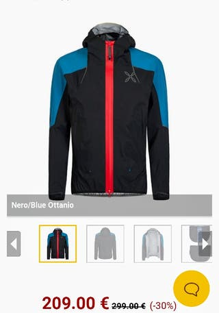 chaqueta impermeable montura gore tex active