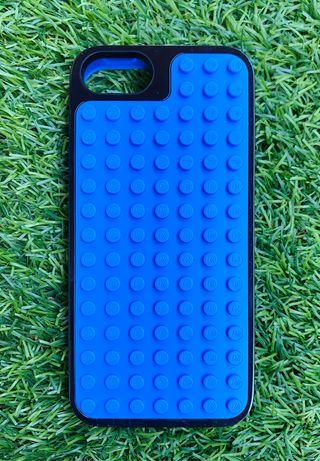 Carcasa azul para iPhone de Lego