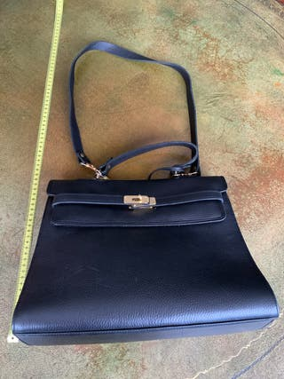 Bolso de piel negro - tipo Hermès